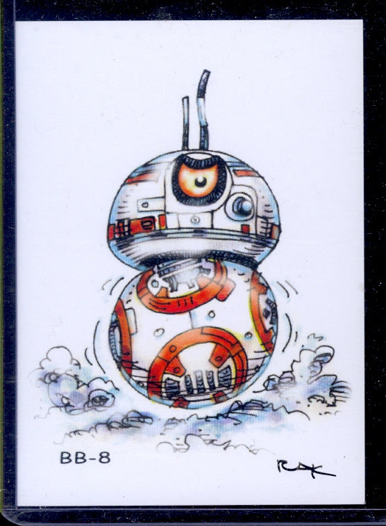 "BB-8 ""Trading Card Art"" by RAK"