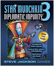 Star Munchkin 3 Diplomatic Impunity Card Game Expansion