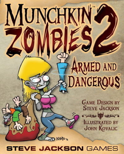 Munchkin Zombies 2: Armed and Dangerous Card Game Expansion