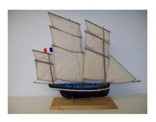 1/50 Petrel 3-Masted 1908 Cancale Fishing Smack Boat