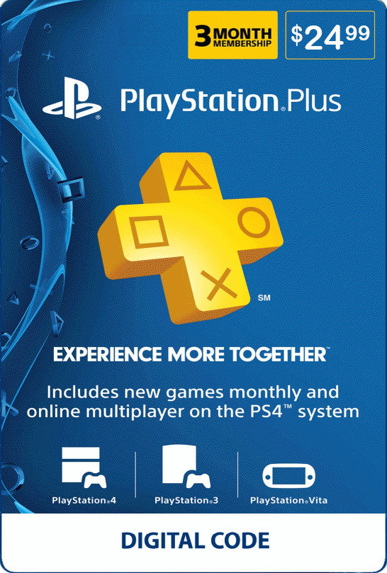 3 Month PSN Plus - PlayStation Plus Membership