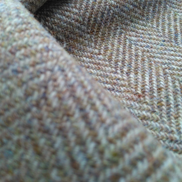 HARRIS TWEED -  ULS#49 - Pale Green Herringbone