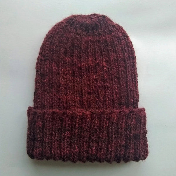 British Alpaca Hat - Burgundy