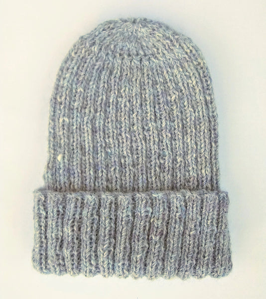 British Alpaca Hat - Pale Blue Grey