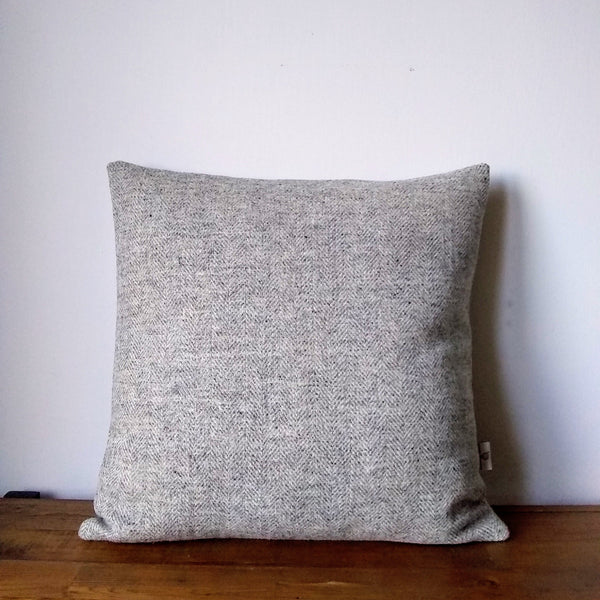 Grey Herringbone HARRIS TWEED cushion