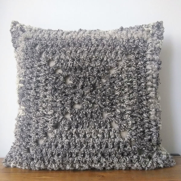 Island Wool & Linen Crochet Cushion