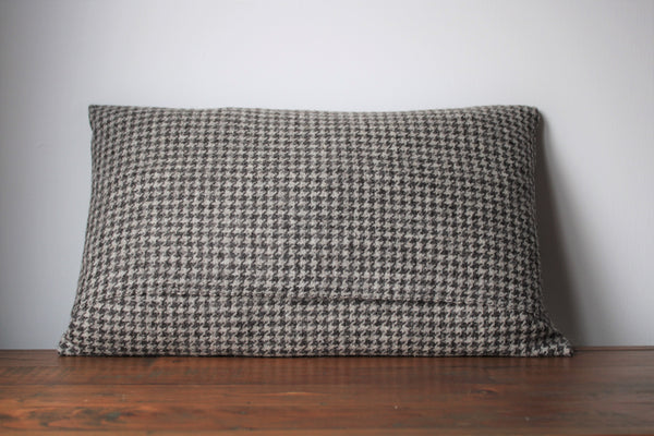 British Breed Handwoven Houndstooth cushion