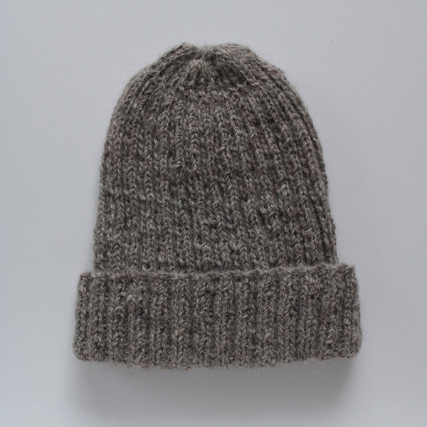 British Alpaca Hat - mid grey