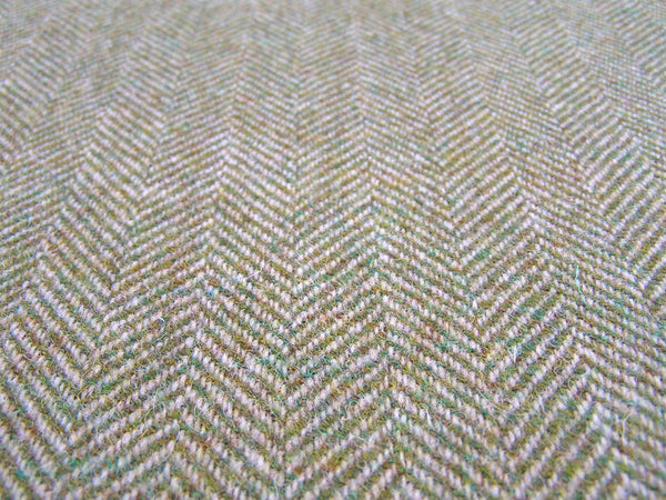HARRIS TWEED - Green & Oatmeal Herringbone ULS#31