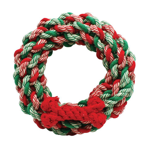 Christmas Rope Wreath Dog Toy