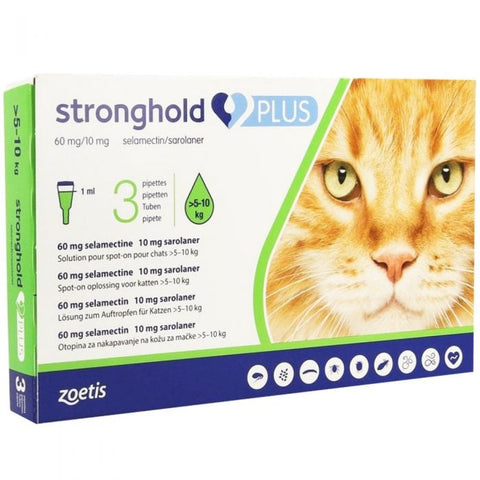 Stronghold PLUS for Cats - Pack of 3 (Prescription Required)