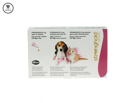 Stronghold Spot-On 15mg Puppy & Kitten pack of 3 (Prescription Required)