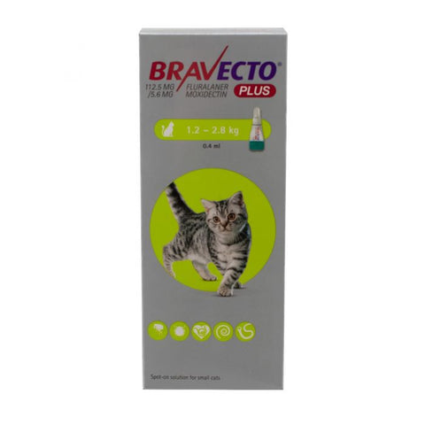 Bravecto PLUS Spot On Solution for Cats (Prescription Required)