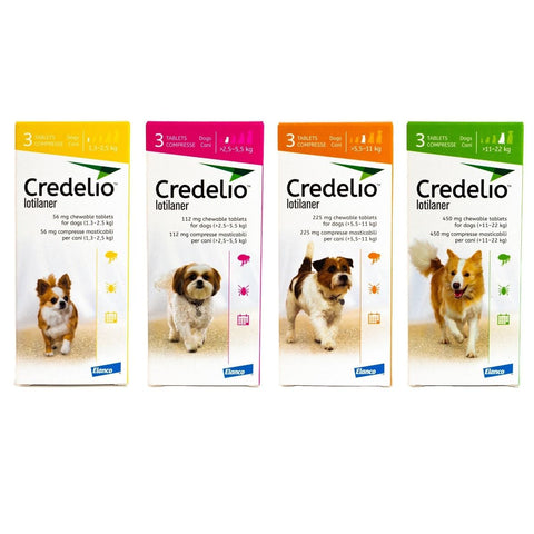 Credelio Chewable Tablets for Dogs (Pack of 6)