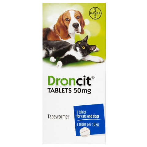 Droncit Worming Tablet for Cat and Dog Per Tablet (Prescription Required)