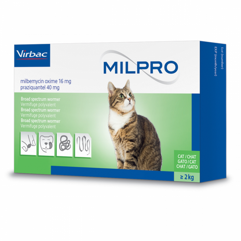 Milpro Worming Tablets for Cats (Prescription Required)