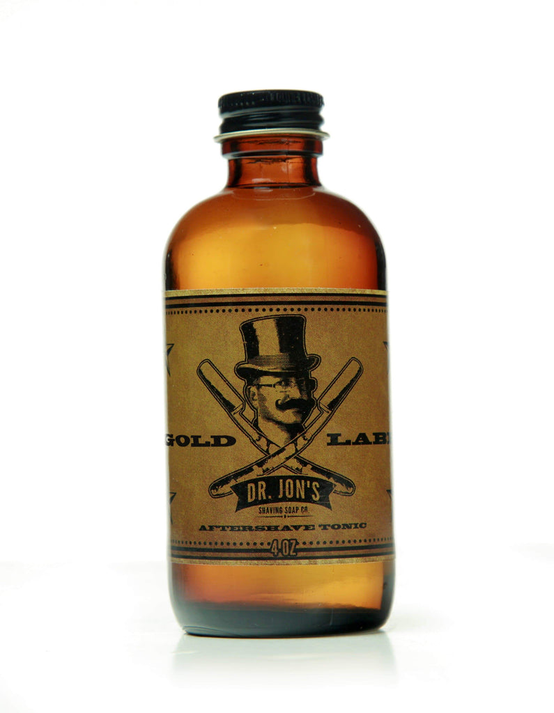 Dr. Jon's Gold Label Aftershave Tonic CoolHatcher at TheArtOfLiving.Earth