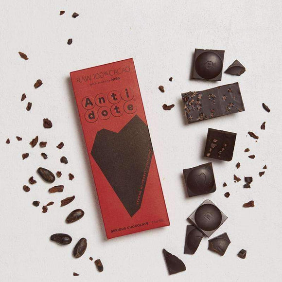 Antidote Chocolate - Raw 100% Bars Tona with Nibs CoolHatcher at TheArtOfLiving.Earth