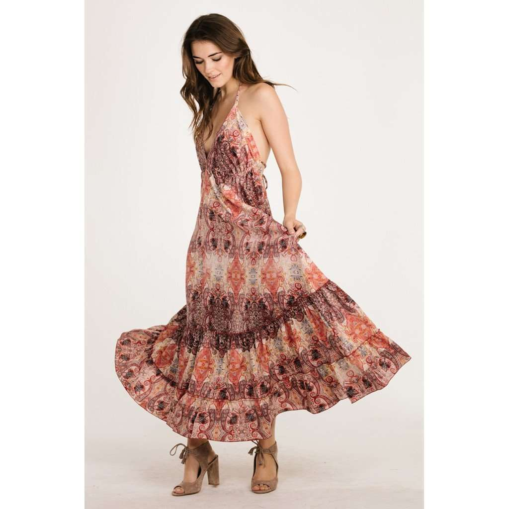 PINK SAND HALTER MAXI CoolHatcher at TheArtOfLiving.Earth