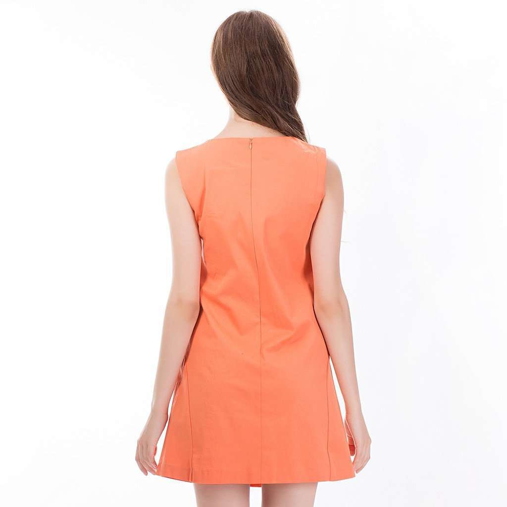 The Asymmetric Sundress in Orange CoolHatcher at TheArtOfLiving.Earth