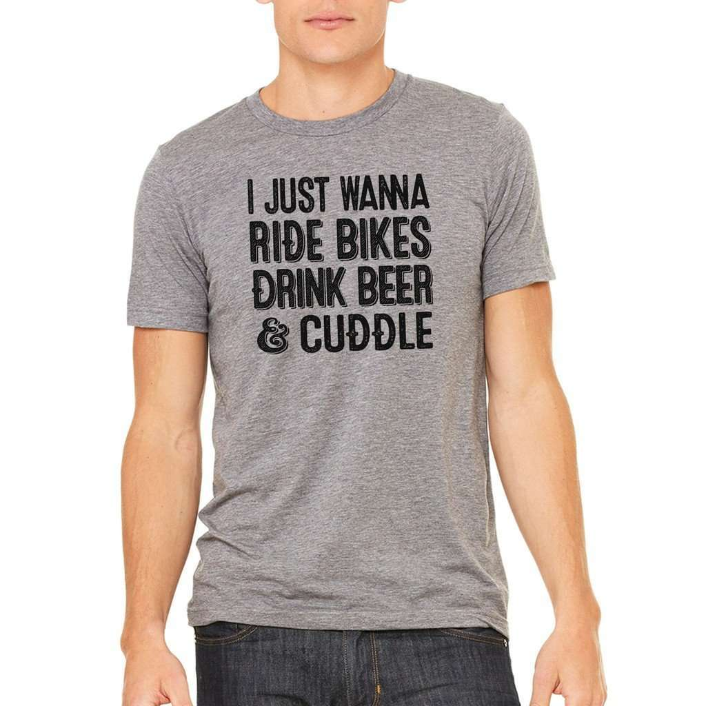 I Just Wanna Ride Bikes Tee CoolHatcher at TheArtOfLiving.Earth