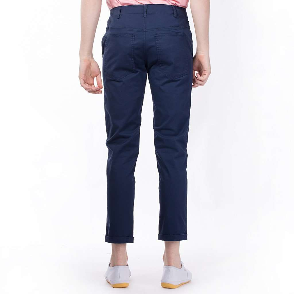The Essential Chinos in Navy CoolHatcher at TheArtOfLiving.Earth