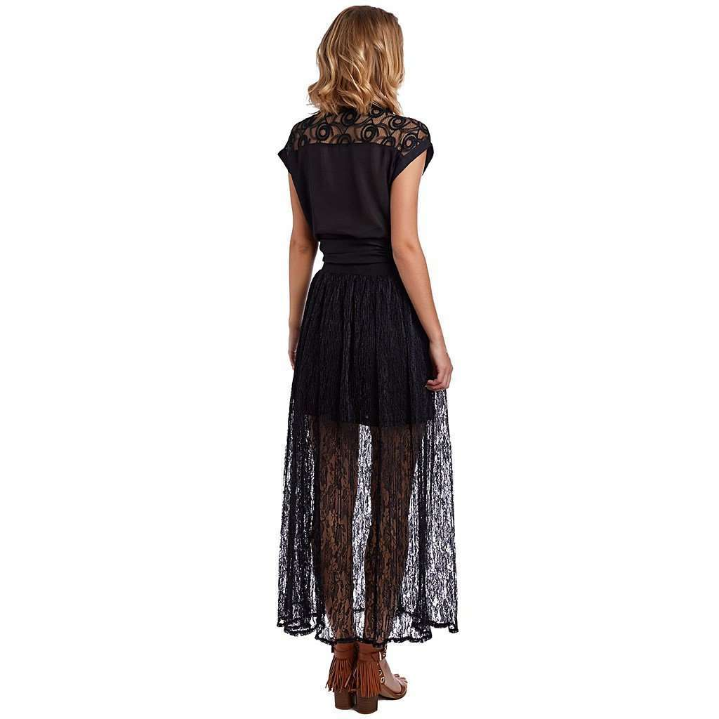 Black crochet maxi skirt CoolHatcher at TheArtOfLiving.Earth