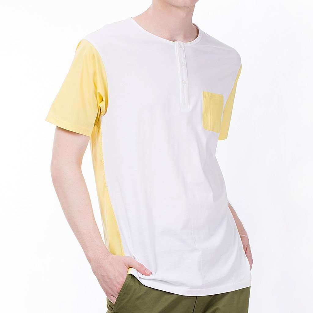The Relaxed Henley in Yellow CoolHatcher at TheArtOfLiving.Earth