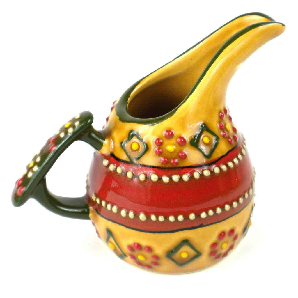 Hand-painted Mini Creamer in Red CoolHatcher at TheArtOfLiving.Earth