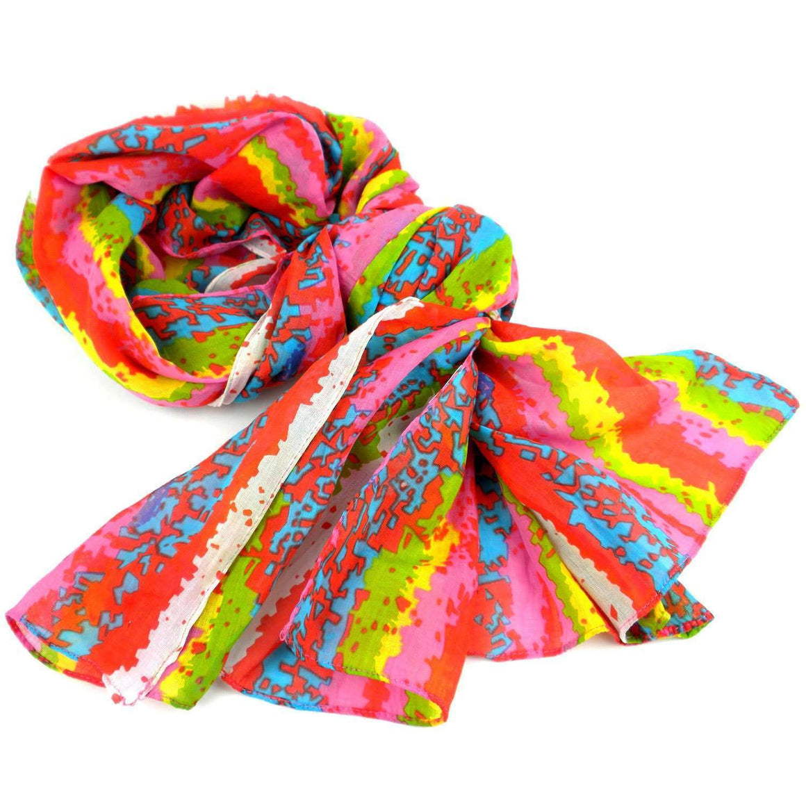 Brighten Up Your Day Cotton Scarf - Asha Handicrafts CoolHatcher at TheArtOfLiving.Earth
