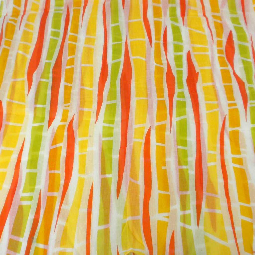 Yellow Columns Design Cotton Scarf - Asha Handicrafts CoolHatcher at TheArtOfLiving.Earth