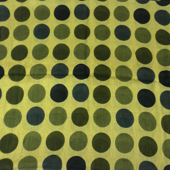 Olive Polka Dots Cotton Scarf - Asha Handicrafts CoolHatcher at TheArtOfLiving.Earth