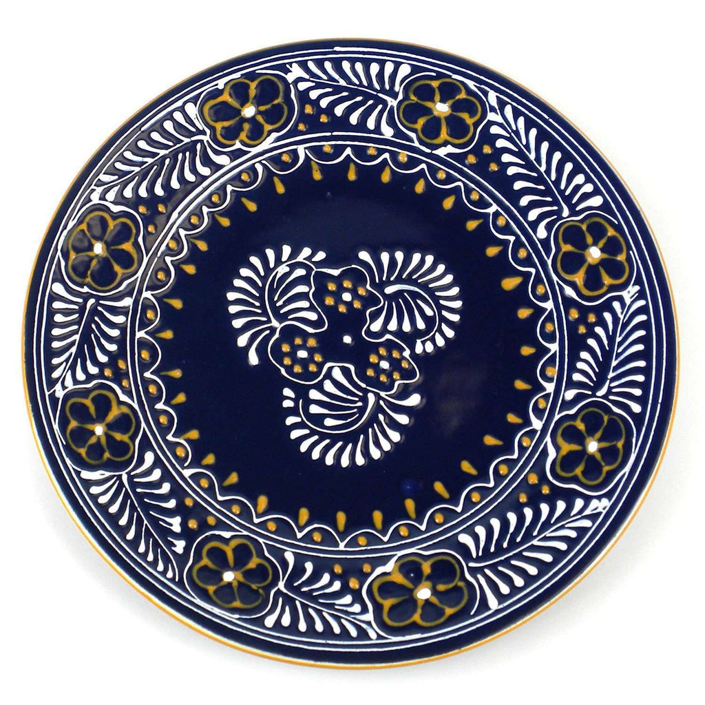 Round Plate - Blue CoolHatcher at TheArtOfLiving.Earth