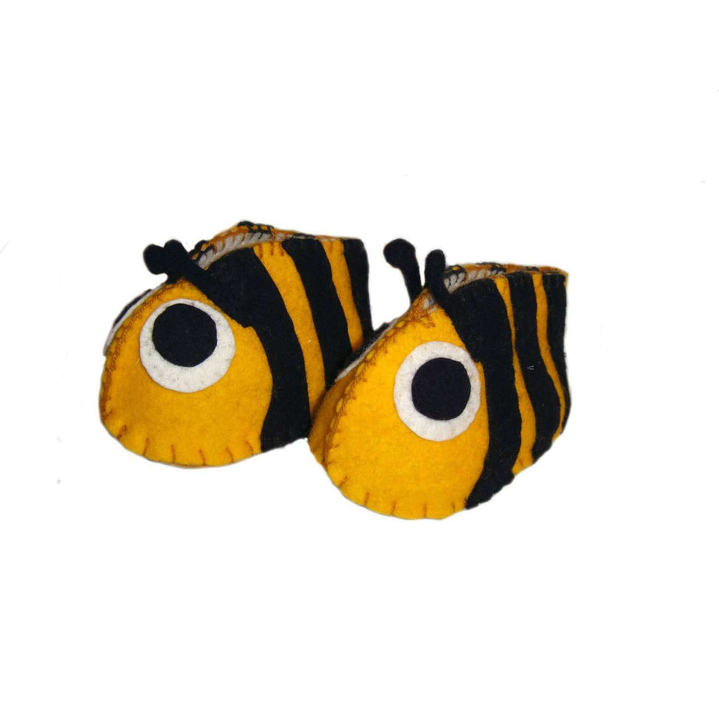 Bumble Bee Zooties Baby Booties - Silk Road Bazaar CoolHatcher at TheArtOfLiving.Earth