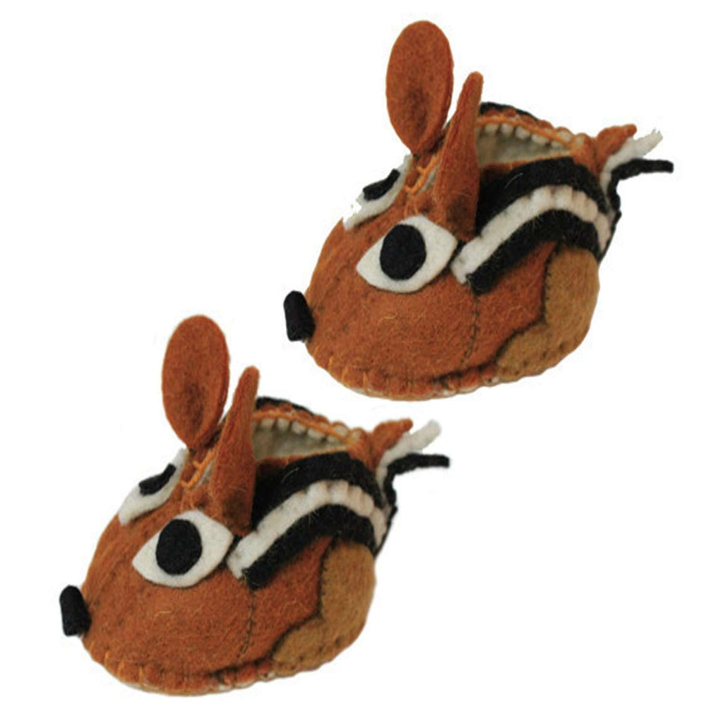 Chipmunk Zooties Baby Booties - Silk Road Bazaar CoolHatcher at TheArtOfLiving.Earth