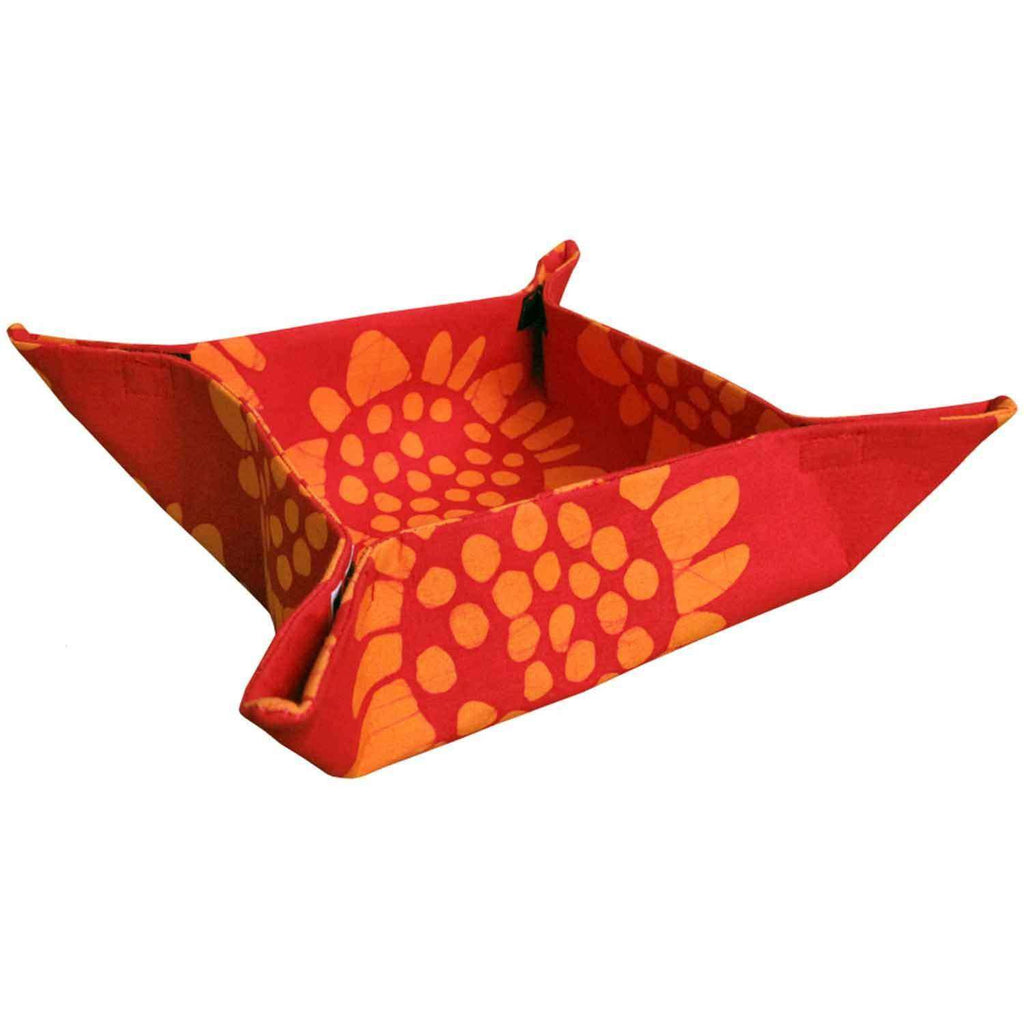 Velcro Basket - Red Sunflower - Global Mamas (T) CoolHatcher at TheArtOfLiving.Earth