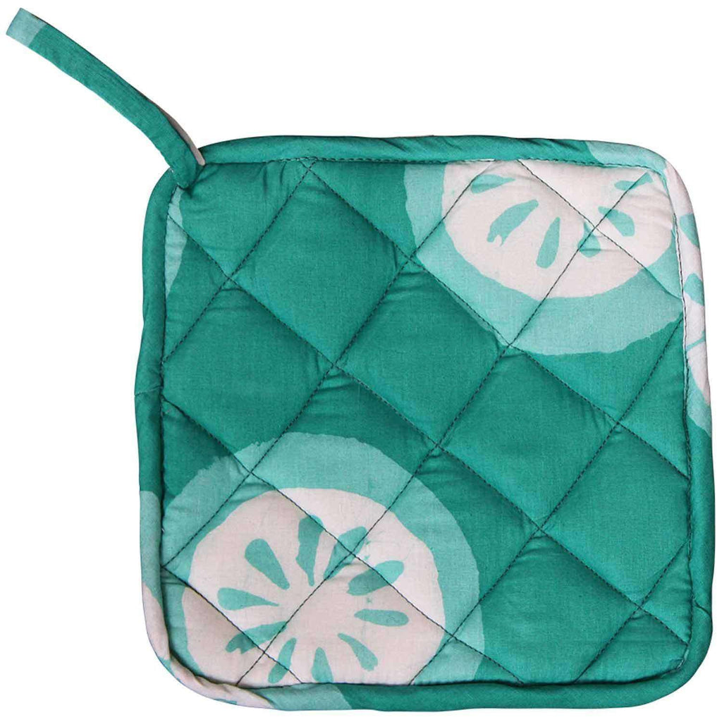 Pot Holder - Shamrock Citrus - Global Mamas (T) CoolHatcher at TheArtOfLiving.Earth