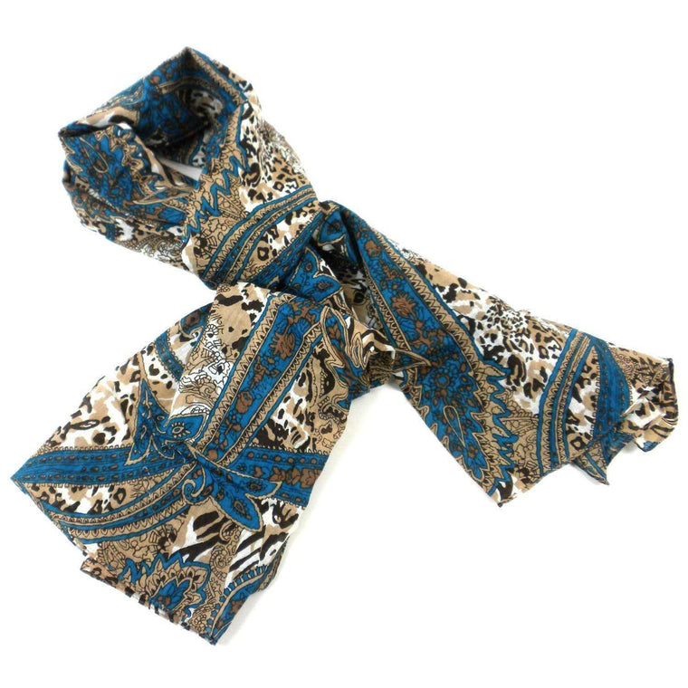 Paisley Cotton Scarf - Asha Handicrafts CoolHatcher at TheArtOfLiving.Earth