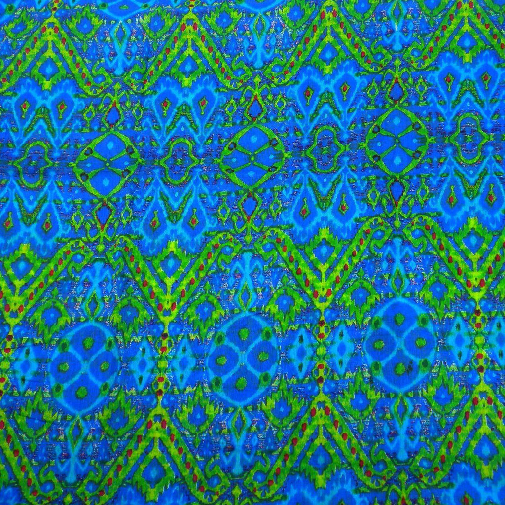 Blue Psychedelic Cotton Scarf - Asha Handicrafts CoolHatcher at TheArtOfLiving.Earth