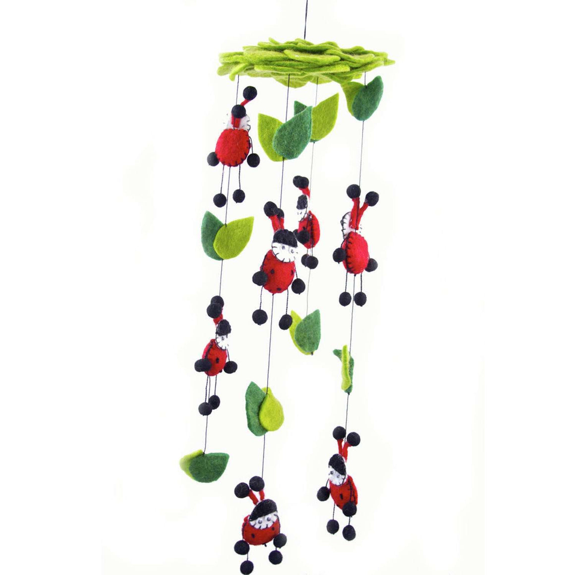 Felt Lady Bug Mobile - Global Groove CoolHatcher at TheArtOfLiving.Earth