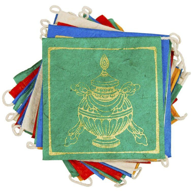 Paper Prayer Flag Lucky Signs 8 ft long - Tibet Collection CoolHatcher at TheArtOfLiving.Earth