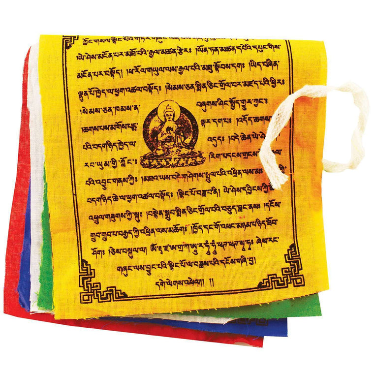 Prayer Flag TNP Buddha, Small - Tibet Collection CoolHatcher at TheArtOfLiving.Earth