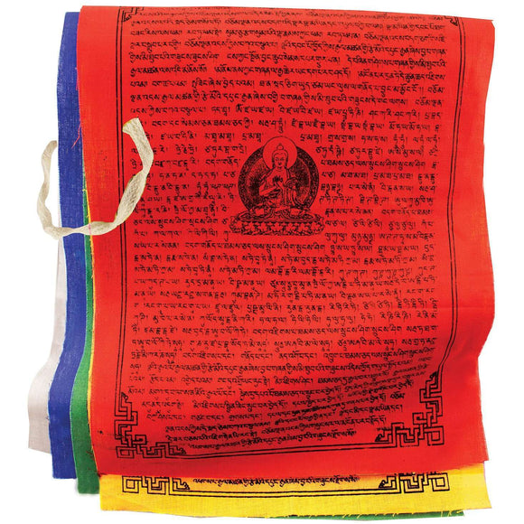 Prayer Flag TNP Buddha, Medium - Tibet Collection CoolHatcher at TheArtOfLiving.Earth