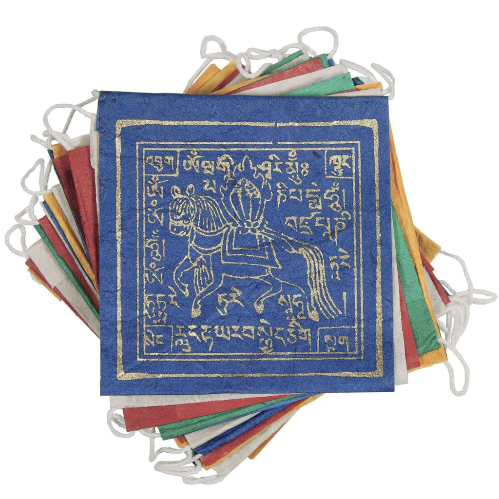 Paper Prayer Flag Windhorse 8 ft long - Tibet Collection CoolHatcher at TheArtOfLiving.Earth