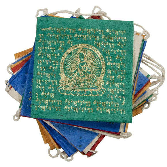 Paper Prayer Flag Tara - Tibet Collection CoolHatcher at TheArtOfLiving.Earth