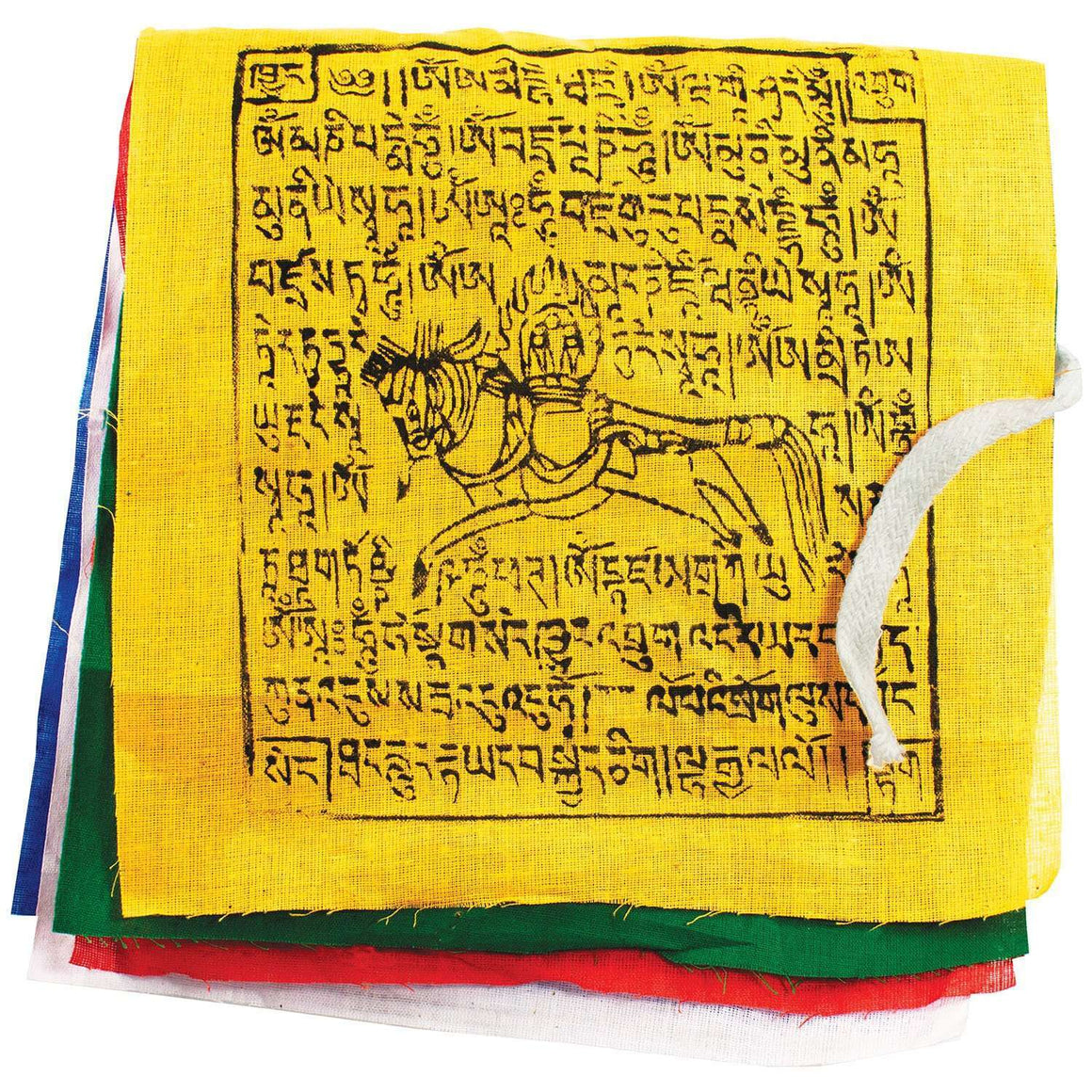 Prayer Flag: GCS Windhorse, Small - Tibet Collection CoolHatcher at TheArtOfLiving.Earth