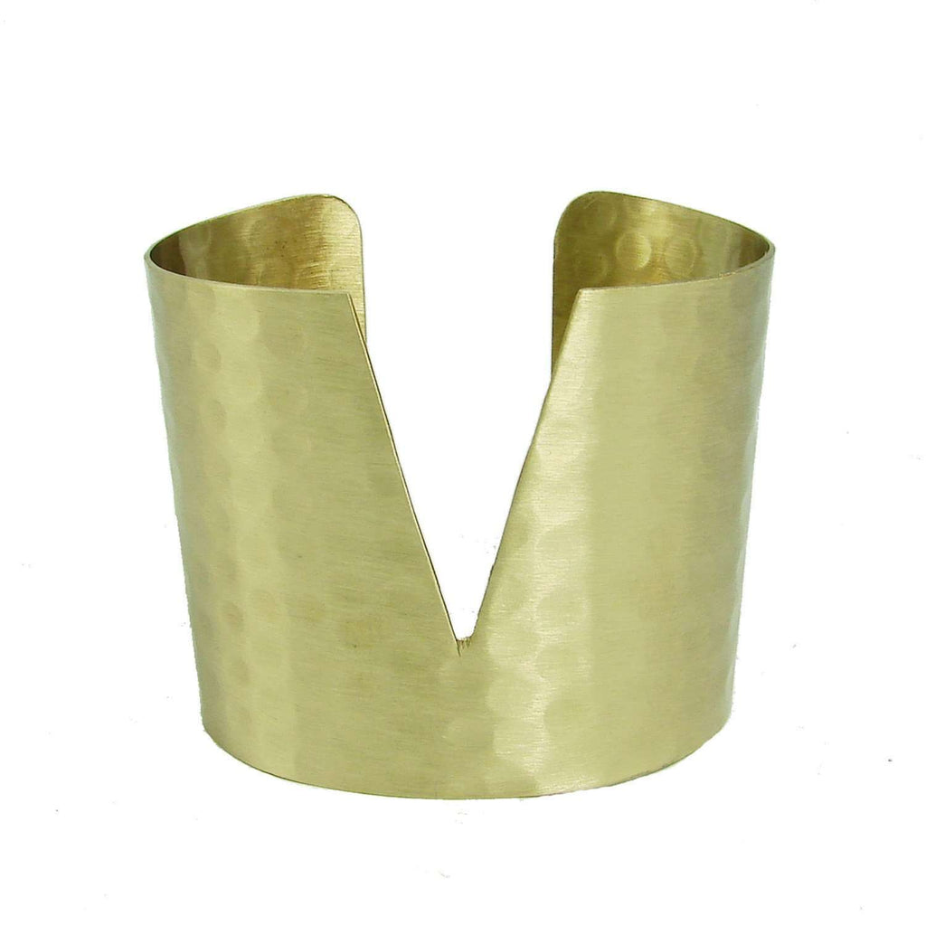 Triangular Cuff - Gold - WorldFinds CoolHatcher at TheArtOfLiving.Earth