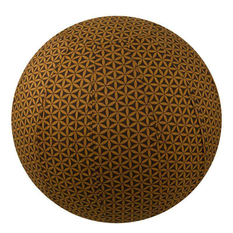 Yoga Ball Cover Size 65cm Design Chocolate Flower of Life CoolHatcher at TheArtOfLiving.Earth