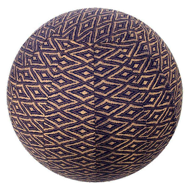 Yoga Ball Cover Size 65cm Design Navy Ikat CoolHatcher at TheArtOfLiving.Earth