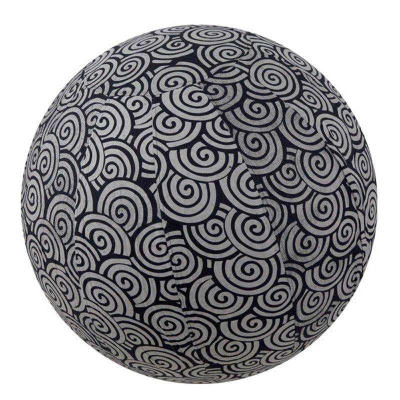 Yoga Ball Cover, Size 65 Black Swirl CoolHatcher at TheArtOfLiving.Earth